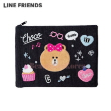 LINE FRIENDS Isko Denim Choco Pouch 1ea