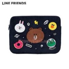 "LINE FRIENDS Navy Friends Wappen Notebook Pouch 15""(Laptop Sleeve) 1ea"