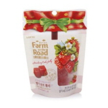 LOTTE Farm on the Road Starwberry cube Jelly 96g, LOTTE