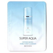 [mini] MISSHA Super Aqua Oxygen Micro Visible Deep Cleanser 3ml*10ea, MISSHA