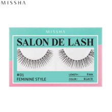 MISSHA Salon De Lash (False Eyelash) #01 Feminine Style (Black, 8mm), MISSHA