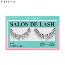 MISSHA Salon De Lash (False Eyelash) #02 Define Eye (Black, 10mm), MISSHA