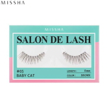 MISSHA Salon De Lash (False Eyelash) #03 Baby Cat (Brown, 8mm), MISSHA
