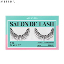 MISSHA Salon De Lash (Eyelash) #08 Black Fit (Black, 10mm/Volume), MISSHA