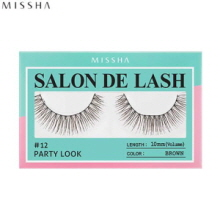 MISSHA Salon De Lash (Eyelash) #12 Party Look (Brown, 10mm/Volume), MISSHA