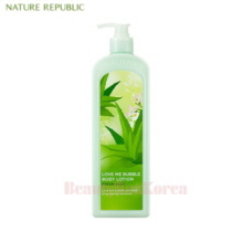 NATURE REPUBLIC Love Me Bubble Body Lotion Fresh Aloe 1000ml