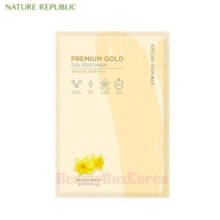 NATURE REPUBLIC Premium Gold Foil Foot Mask 16ml