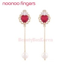 NOONOOFINGERS Lace Heart Pearl Drop Earrings 1pair