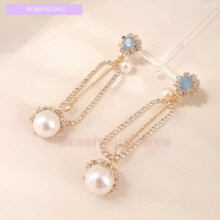 ROMANGSHU Pearl Drop Earrings 1pair