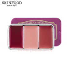 SKINFOOD Fresh Fruit Lip & Cheek Trio #Plum Mellow 2.5g*3