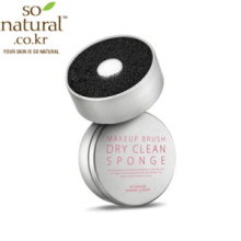 SO NATURAL Makeup Brush Dry Clean Sponge 1ea, SO NATURAL