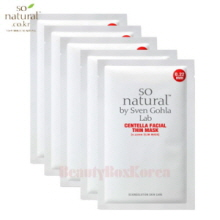 SO NATURAL Centella Facial Thin Mask 23ml*5ea
