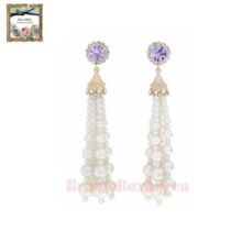STRAWBERRY SHERBET Renaissance Violet Pearl Dress Drop Earring 1pair