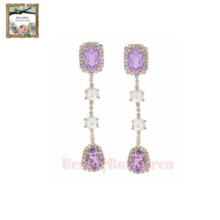STRAWBERRY SHERBET Renaissance Violet Pearl Drop Earring 1pair