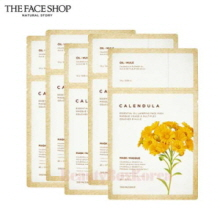 THE FACE SHOP Calendula Essential Oil Layering Face Mask 21.5g*5ea