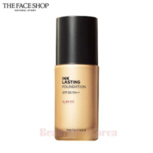 THE FACE SHOP Ink Lasting Foundation Slim Fit SPF30 PA++ 30ml,Beauty Box Korea