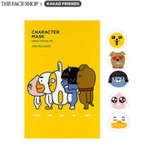 THE FACE SHOP X KAKAO FRIENDS Charcter Mask Sheet Set 23ml*5ea, THE FACE SHOP