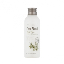 TONYMOLY  I'M Real Tea Tree Sebum & Pore Lotion 200ml, TONYMOLY
