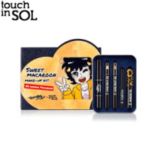 TOUCH IN SOL x Go, Hani! Sweet Macaroon Makeup Kit #2 Orange Macaroon + Go Eun-Ae's Lip Pack 1ea, TOUCH IN SOL