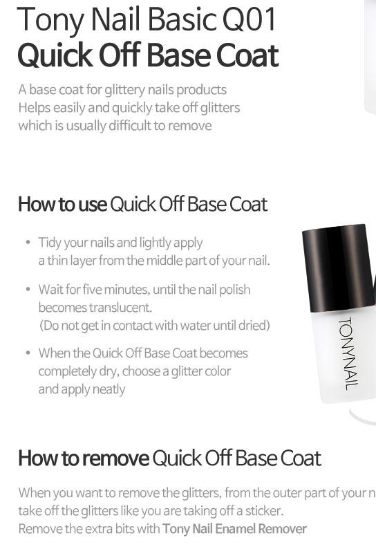 Beauty Box Korea - TONYMOLY Tony Nail Basic Q01 Quickoff Base Coat ...