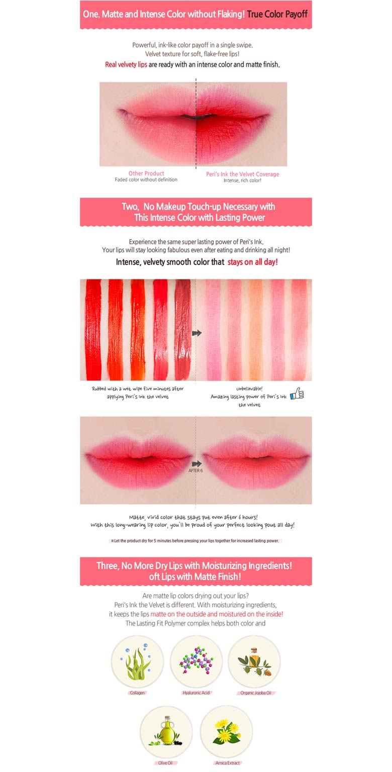 Beauty Box Korea Peripera Peris Ink The Velvet 8g Best Price Airy Original Periperas Iconic Collection Now Includes A Beautiful Pigmented Color Range Of 5 Shades In Matte Finish