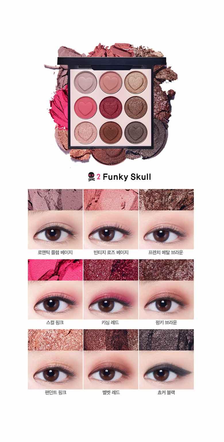 Beauty Box Korea - ETUDE HOUSE Pink Skull Color Eyes 1g*9ea | Best ...
