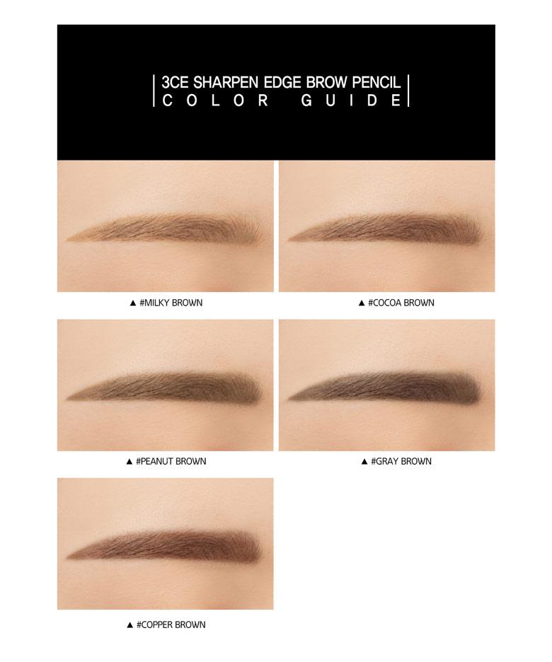 Beauty Box Korea Stylenanda 3ce Sharpen Edge Brow Pencil 035g