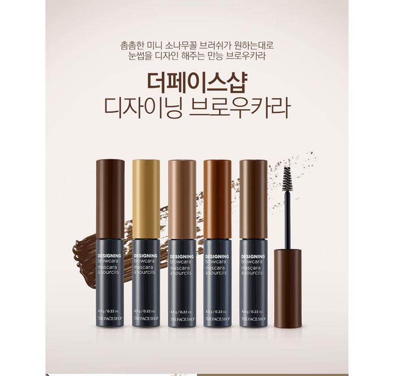 Beauty Box Korea The Face Shop Designing Browcara 65g Best