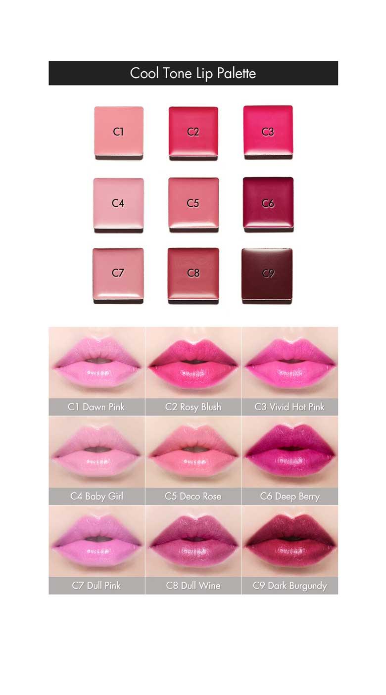 Beauty Box Korea - ETUDE HOUSE Personal Color Palette Cool Tone Lip ...