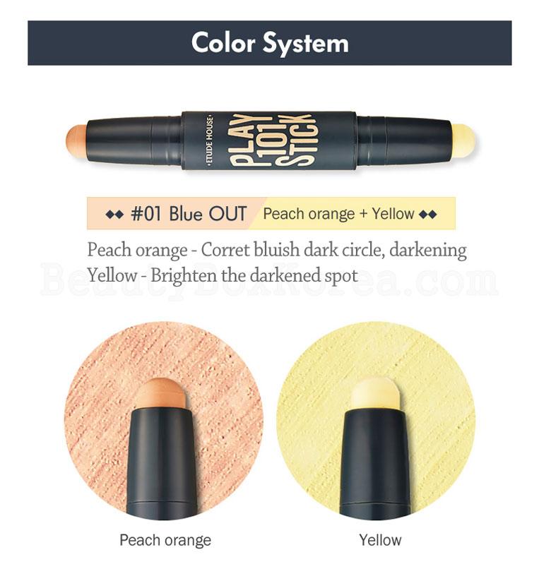 ETUDE HOUSE Play 101 Stick Color Contour Duo 1.7g*2 [2 Colors]