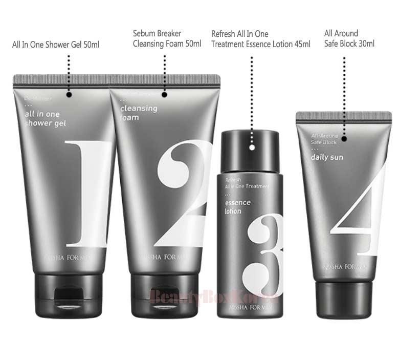 Beauty Box Korea - [mini] MISSHA For Men Travel Kit 4items | Best ...