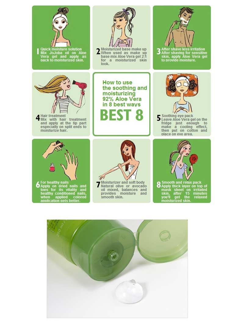 Ature Republic Aloe Vera Beauty Box Korea Nature Soothing Moisture 92 Leaf Extract