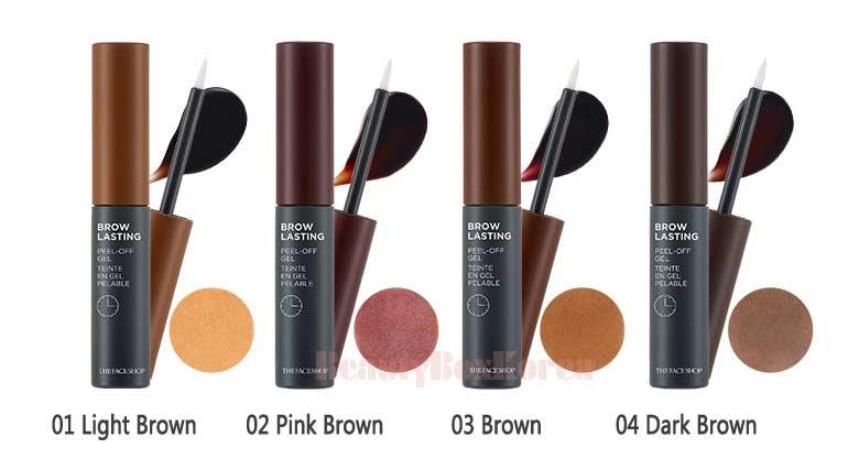 Beauty Box Korea The Face Shop Brow Lasting Peel Off Gel 5g Best