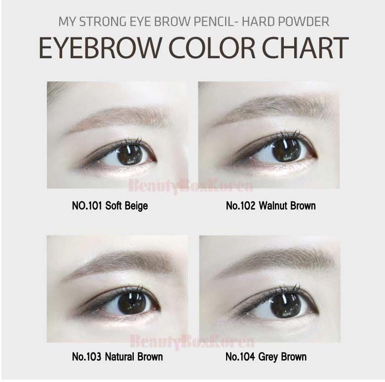Beauty Box Korea Macqueen New York My Strong Eye Brow Pencil Hard