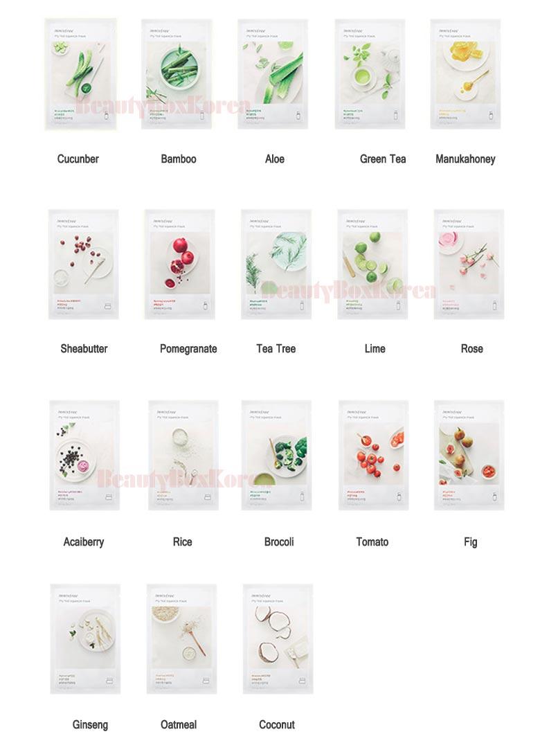Beauty Box Korea Innisfree My Real Squeeze Mask 20ml10ea Best Its Bija 20ml How To Use