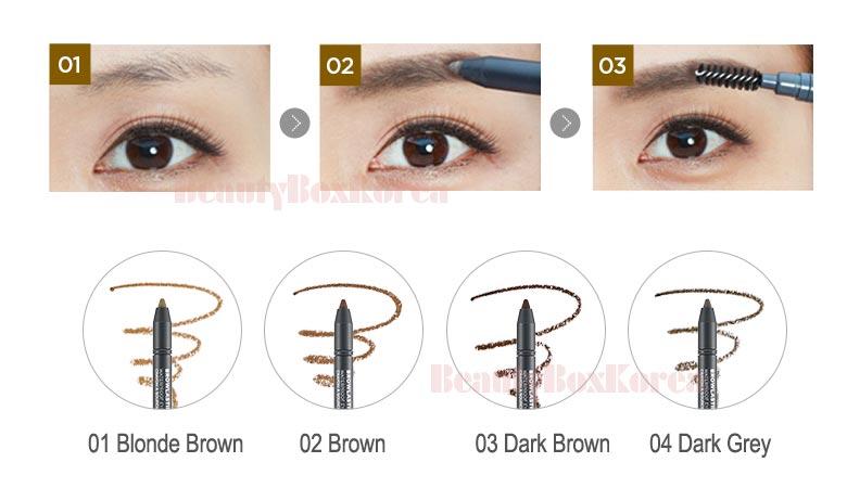 Beauty Box Korea The Face Shop Browlasting Waterproof Pencil 05g