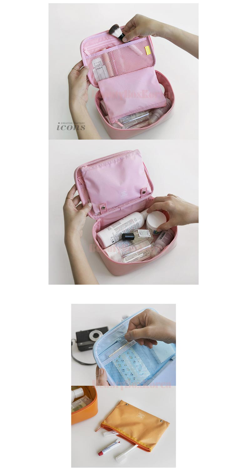 Beauty Box Korea Kakao Friends Travel Functional Multi Pouch 1ea