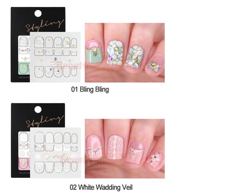 Beauty Box Korea - THE FACE SHOP Styling Nail Sticker 1ea | Best ...