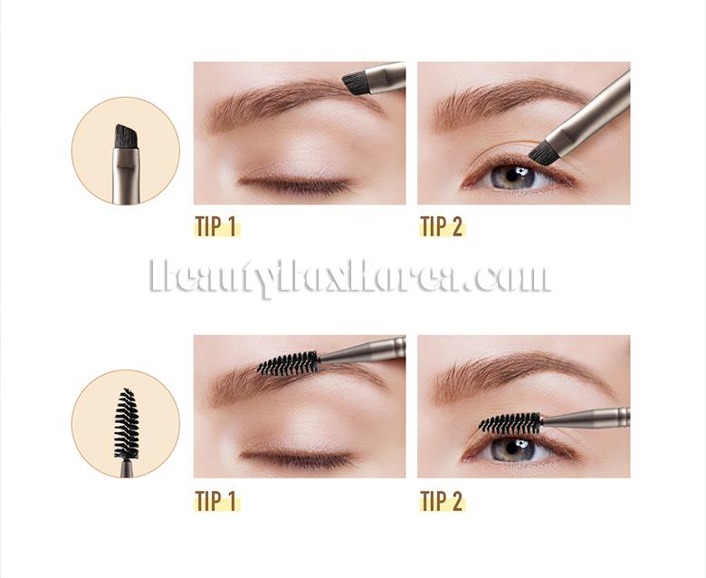 Beauty Box Korea Too Cool For School Art Class Dual Eyebrow Brush