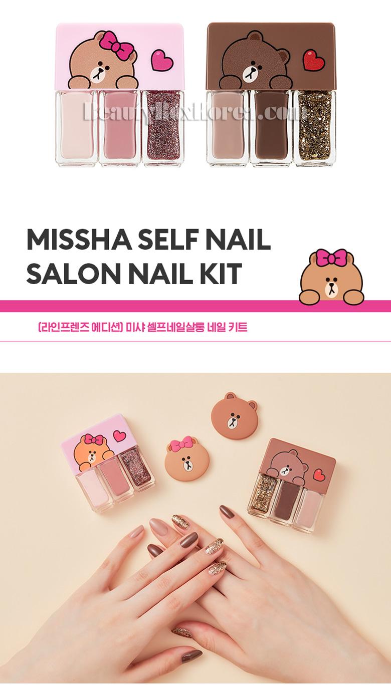 Beauty Box Korea - MISSHA Self Nail Salon Nail Kit 4ml*3ea[LINE ...